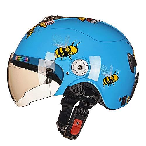 TKTTBD Verstellbar Kinder Fahrradhelm,Multi-Sport Sicherheit Kinderhelm mit Visier,Ultralight Kinderhelm Skaterhelm für Fahrrad Roller Skateboard Schifahren 3-13 Junge...