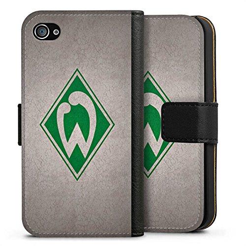 Apple iPhone 7 Hülle Case Handyhülle SV Werder Bremen Fanartikel Merchandise Fußball Sideflip Tasche schwarz