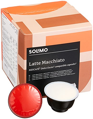 Marca Amazon-Solimo Cápsulas Latte Macchiato, compatibles Dolce Gusto