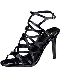 Buffalo Shoes 15S90-2 Patent PU Glitter, Sandali con Zeppa Donna, Nero (Black 01), 37 EU