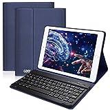 COO Funda Teclado Español para iPad, Cubierta Ultraliviano con Teclado Bluetooth Desmontable para...