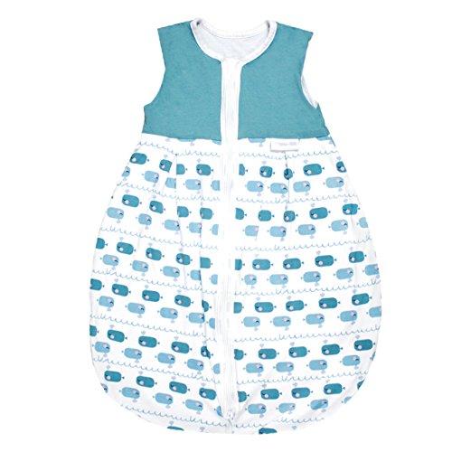 Emma & Noah Baby Schlafsack, Kugelschlafsack, geeignet für Sommer, 18-24°C (1.0 Tog), 100% Baumwolle, Größe: 110 cm, Farbe: Junge, ideal als Babyschlafsack, Sommerschlafsack, Schlummersack (Größe 20 Overalls)