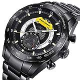 Pagani Design Mens Sport Chronograph Analog Quarz Waterproof Edelstahl Armband Uhr