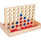 """small foot 3460 Gesellschaftsspiel """"Vier in einer Reihe auf Reise"""", """"Vier gewinnt"""" als Reiseversion in Holzbox"""