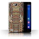 Coque de Stuff4 / Coque pour Huawei Ascend G620 / éléphant-Sépia Design / Motif Animaux Aztec Collection