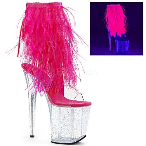 Pleaser Women FLAMINGO-1017MFF/C-HP/C Boots Open-back Ankle Boots