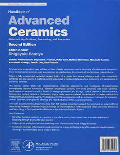 Handbook of Advanced Ceramics: Materials, Applications, Processing, and Properties