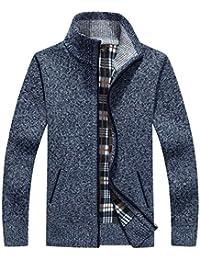 HaiDean Cappotto Caldo Invernale Cappotto da Uomo Classico da Collo Casual  Moderna in Cotone Felpa con b0bdf485ee9