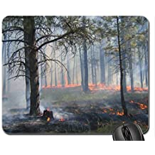 To those who have to fight these fires Mouse Pad, Mousepad (Forests Mouse Pad)