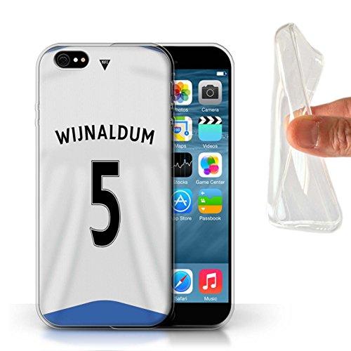 Offiziell Newcastle United FC Hülle / Gel TPU Case für Apple iPhone 6S / Pack 29pcs Muster / NUFC Trikot Home 15/16 Kollektion Wijnaldum