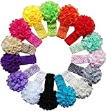 Best Baby Shower Gifts For Girls - Skudgear 15 Pack Flower Chiffon Headbands for Ba Review