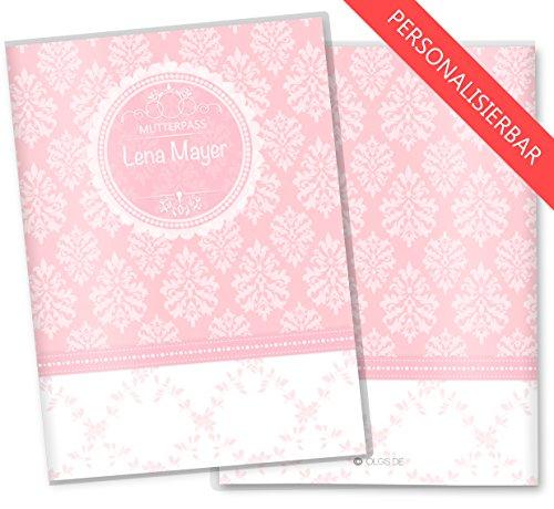 Blanko Mutterpasshülle personalisierbar rosa 3-teilig