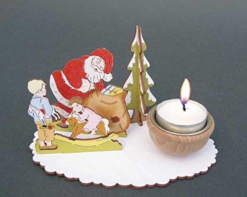 """Weihnachten - Bastel-Set """"Teelichthalter Bescherung"""""""