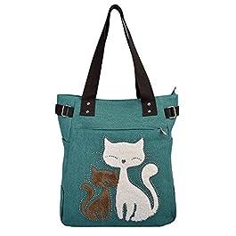 VBIGER Borse Tote Bag da Donna in Tela Gatto Carino