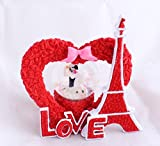 #6: Valentine Gifts Snow Globe Dome Eiffel Tower Single Heart with Light by Lilone | Gift for Girlfriend Boyfriend Husband