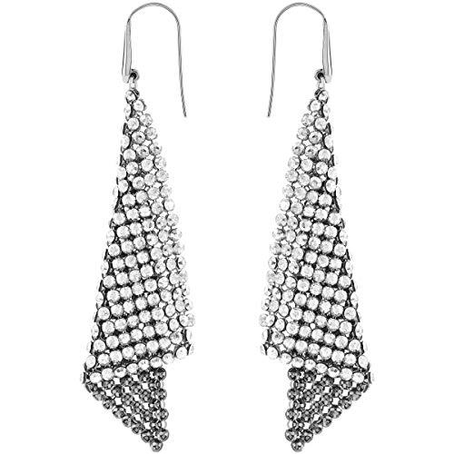 Swarovski orecchini  fit, cristallo grigio, rodiati, da donna
