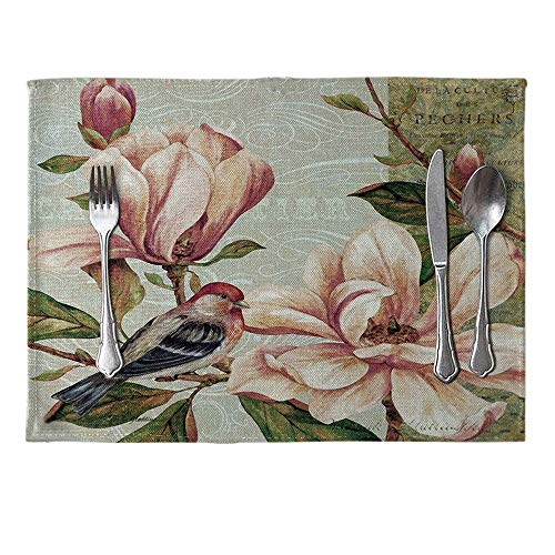 Tischset, Tischset Vintage Flower Printed Tischset Leinen Tablewear Pad Home Esstisch Decor -