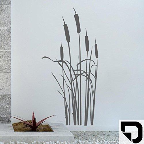 DESIGNSCAPE® Wandtattoo Schilfgras - Schilf - Schilfgräser 86 x 180 cm (Breite x Höhe) schwarz DW804041-L-F4