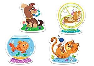 TREFL-Puzzle Baby Los Animales Domésticos 2-3-4-5Piezas, 36053U