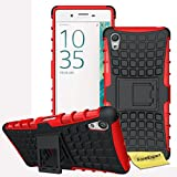 Sony Xperia X Handy Tasche, FoneExpert® Hülle Abdeckung Cover schutzhülle Tough Strong Rugged Shock Proof Heavy Duty Case für Sony Xperia X + Displayschutzfolie