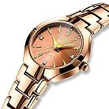 CIVO Damen Uhren Rose Gold Wasserdicht Damenuhr mit Edelstahl Armband Mode Kleid Elegant Luxus Beiläufig Schlanke Analoge Quarzwerk Uhr für Jugendliche Mädchen