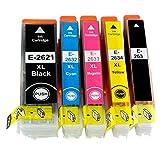 Kombipack 5 x Kompatible Tintenpatrone ersetzt Epson 26 / 26XL schwarz, fotoschwarz cyan, magenta, gelb
