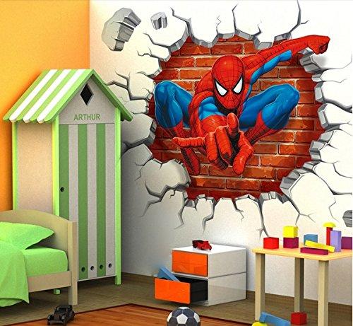 Spiderman Stickers muraux enfants garçons Chambre Decal art Mural Decor.