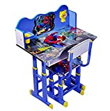 Best Toddler Table - IndusBay Height Adjustable Wooden Spiderman Theme Study Table Review