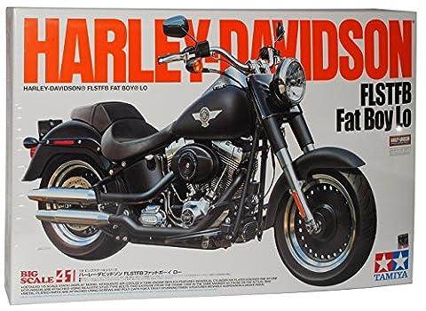 Harley Davidson FLSTFB Fat Boy Lo 16041 Kit Bausatz 1/6 Tamiya Modell Motorrad Modell Auto (Bausatz Harley Davidson)