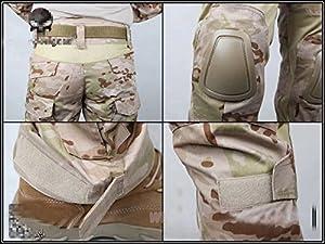 Hommes Militaire Armée pour airsoft/paintball war-game Tir tactique G2Gen2EDR Combat uniforme pour homme & Combinaison de protection avec Coudières & Genouillères Multicam arides