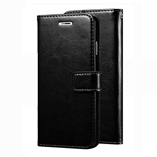 Designer Hub Oneplus 6 Flip Flap Cover Case with Stand/Wallet/Card Holder – Black