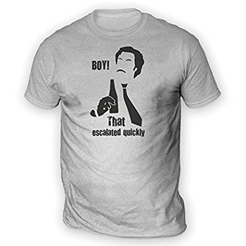 Boy That Escalated Quickly Mens T-Shirt [Ash