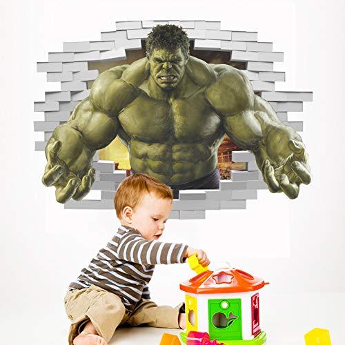 Super-héros Bande Dessinée Avengers l'incroyable Hulk Sticker Mural Vinyle Art Home Enfants Garçon Chambre Affiche Thor Nursery Decor Decal