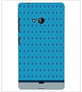 PrintDhaba Circular Pattern D-1518 Back Case Cover for MICROSOFT LUMIA 540 (Multi-Coloured)