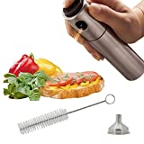 Kyerivs Edelstahl Olivenöl Spray und Kochen Balsamico Essig Öl Sprüher Grillen Öl Flasche für Kochen Salat Brot Backen Barbecue Injector