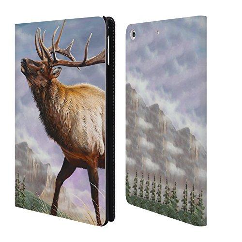 Head Case Designs Offizielle Geno Peoples Art Hochland Leben Brieftasche Handyhülle aus Leder für Apple iPad Mini 4 (Hochland 4)