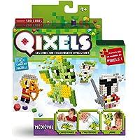 Asmokids Kanaï Kids - KK87004 - Mini Kit DE 4 Créations Qixels - Thème Médiéval - Multicolore