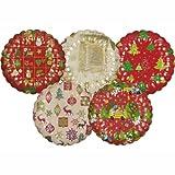 PAPSTAR Pappteller/Einwegteller rund (25 Stück), verschiedene Weihnachtsmotive und gewellter Rand, Durchmesser 23 cm, ideal für Süßigkeiten, Plätzchen und Kuchen, 11522