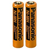 #9: Panasonic 2 Pack NiMH AAA Rechargeable Battery for Small Electronic Devices