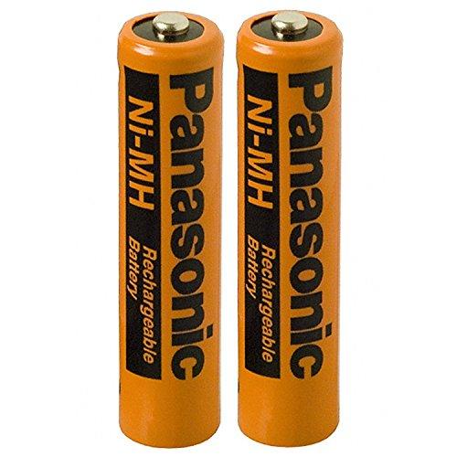 2unidades Panasonic NiMH AAA batería recargable para Teléfonos inalámbricos