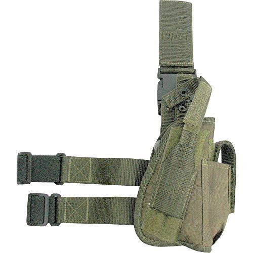 Viper TACTICAL - Funda de Pistola Vertical para Pierna - para diestros - Negro