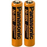 Panasonic 2 Pack NiMH AAA Rechargeable Battery for Small Electronic Devices