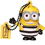 Tribe Los Minions Despicable Me Phil Minion preso - Memoria USB 2.0 de 16 GB Pendrive Flash Drive de Goma con Llavero