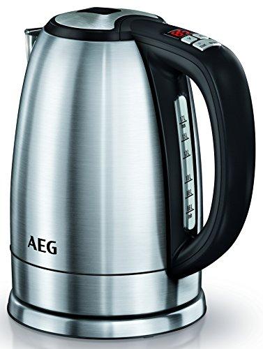 AEG Wasserkocher PremiumLine 7000Series EWA 7700 (LCD Display, 1,7 Liter, Vielfältigkeit und Präzision mit feinen 13 Temperaturstufen, 2400 Watt) - Wasserkocher Kochen