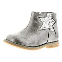 Princess Stardust Dina Girls Synthetic Material Ankle Boots Silver