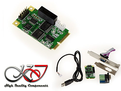 Kalea Informatique Karte Controller io mini PCIe 1 Port RS232 RS422 RS485 (mPCIe Full Size) – Chipsatz FTDI FT231 x S – funktioniert auch in Konverter USB auf RS-232 RS-422 485
