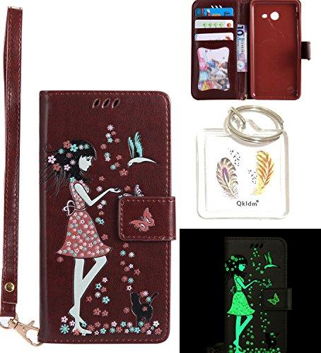 Preisvergleich Produktbild für Galaxy J5 2017 PU Fluoreszenz Leder Silikon Schutzhülle Handy case Book Style Portemonnaie Design für Samsung Galaxy J5 2017 (Version J530F) + Schlüsselanhänger ( DDL (1)