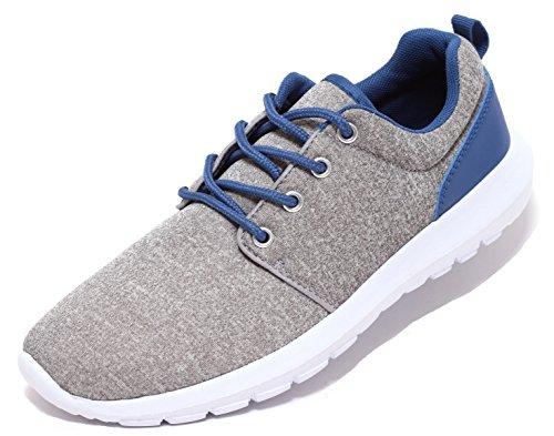 Damen Herren Freizeitschuhe Sportschuhe Sneaker Ultraleicht GRAU MELIERT Gr. 37–41 (40)
