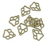 Abalorios de joyería de tono bronce antiguo P04056 con forma de pata de oso para manualidades y manualidades antique bronze