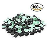 100pezzi adesivo clip cavo filo gestione cavo cravatte supporto per auto, ufficio e casa